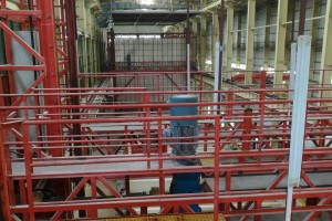 Regenerative unit for painting workshop